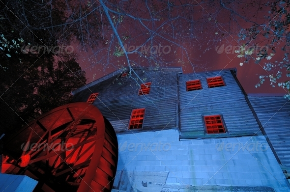 haunted mill - Stock Photo - Images