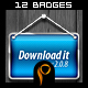 12 Web Badges - GraphicRiver Item for Sale