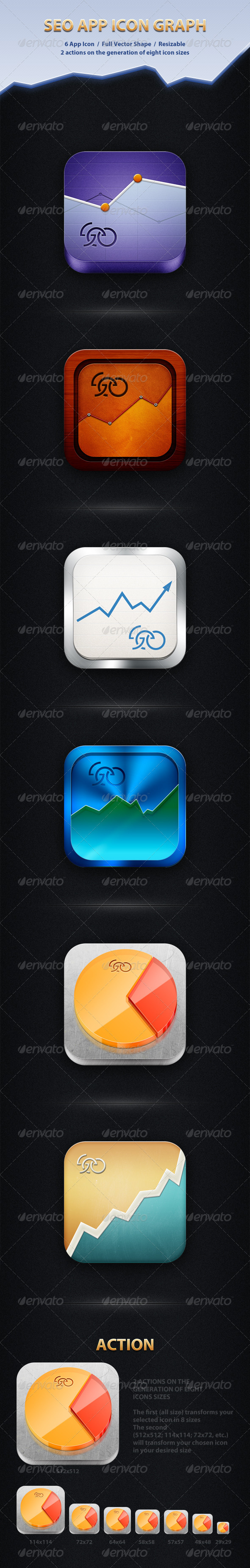 SEO App Icon Graph - Software Icons