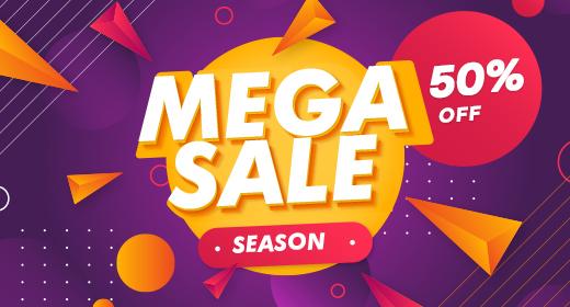Mega Sale Season - 50% OFF