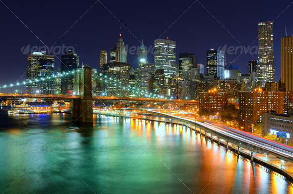 Manhattan Skyline - Stock Photo - Images