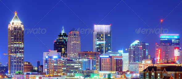 Downtown Atlanta - Stock Photo - Images