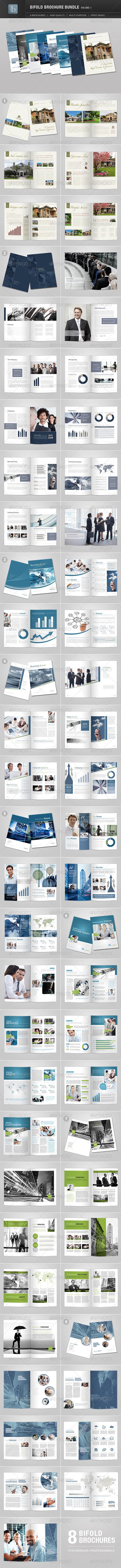 Bifold Brochure Bundle | Volume 1 - Brochures Print Templates
