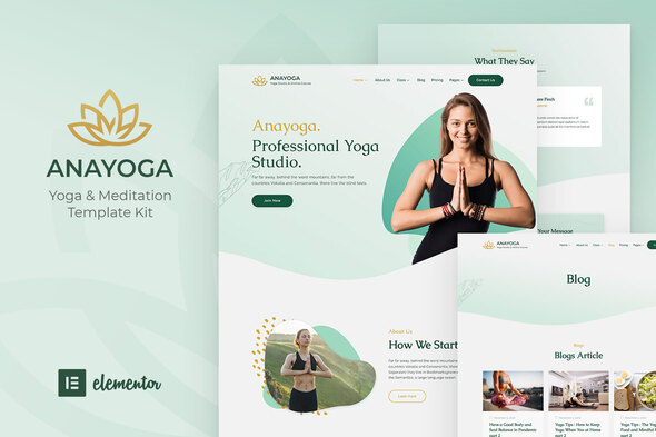 Anayoga - Yoga Teacher & Studio Elementor Template Kit
