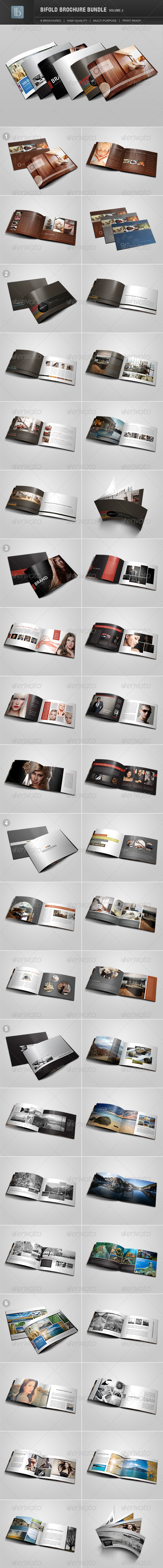 Bifold Brochure Bundle | Volume 2 - Brochures Print Templates
