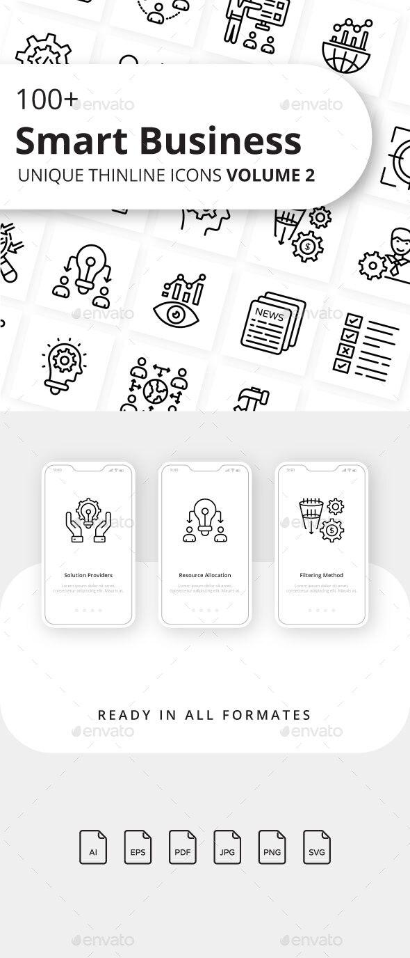 Smart Business Volume 2 Outline Icons