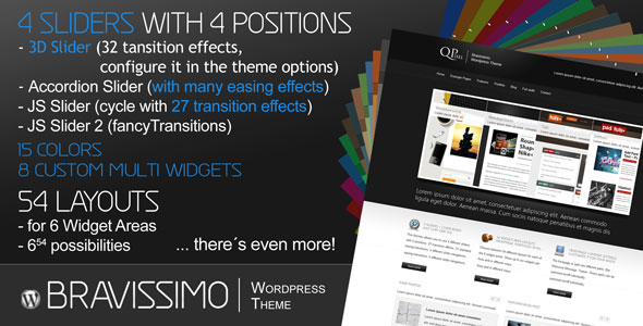 Bravissimo - Porfolio Blog Business CMS WP 15in1