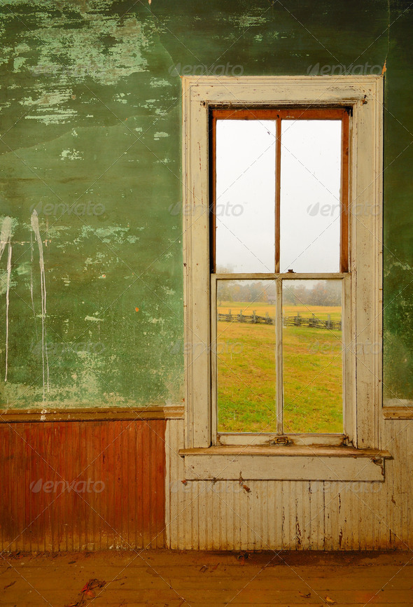 Window in Antique Home - Stock Photo - Images