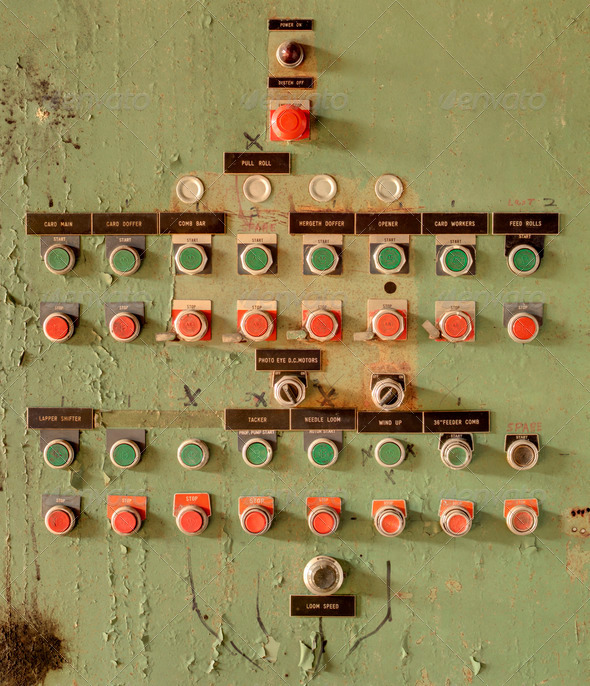 old switch board - Stock Photo - Images