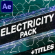Electricity Elements And Titles   After Effects - VideoHive Item for Sale