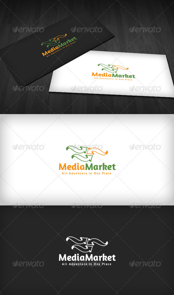Media Market Logo - Vector Abstract