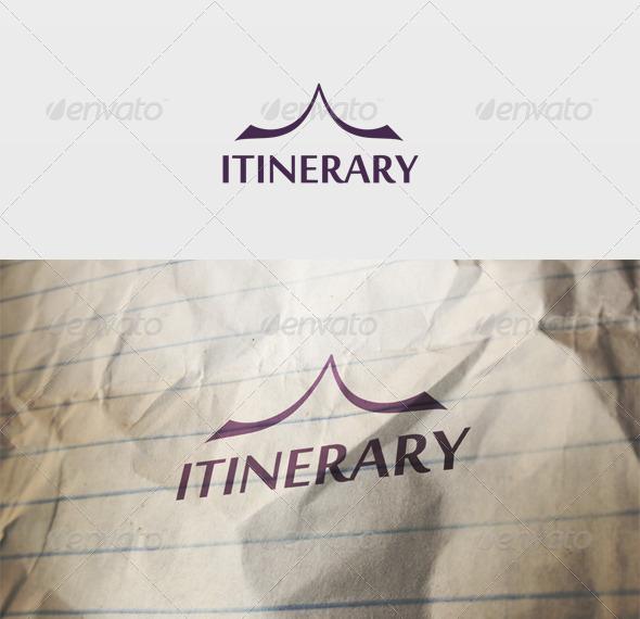 Itinerary Logo - Vector Abstract