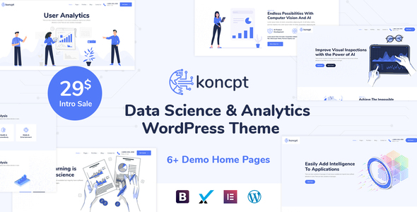 koncpt – Data Science & Analytics WordPress Theme