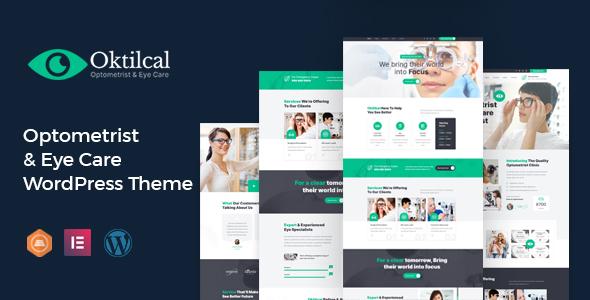 Oktilcal –  Eye Care WordPress Theme
