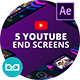 YouTube End Screens Vol.4 | After Effects - VideoHive Item for Sale