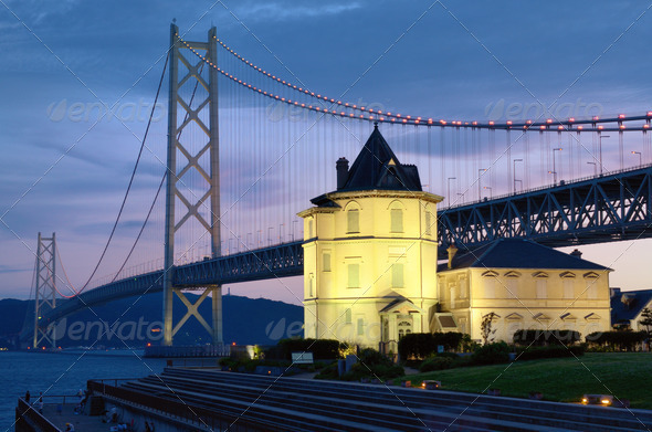 Akashi Bridge - Stock Photo - Images