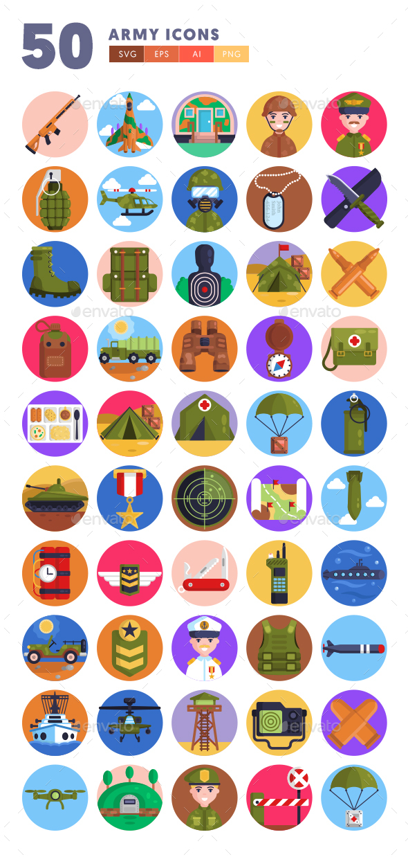 50 Army Icons