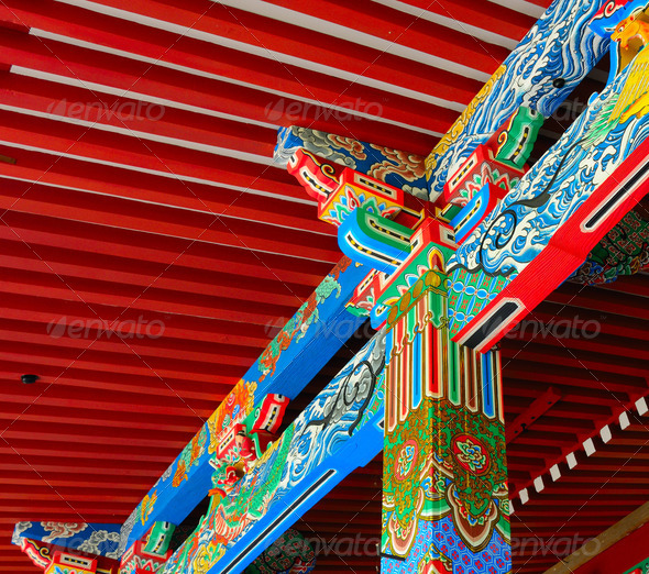 Temple Detail - Stock Photo - Images