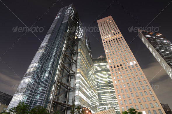 Tokyo Skyscrapers - Stock Photo - Images