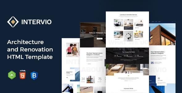 Intervio - Architecture & Interior Design HTML Template