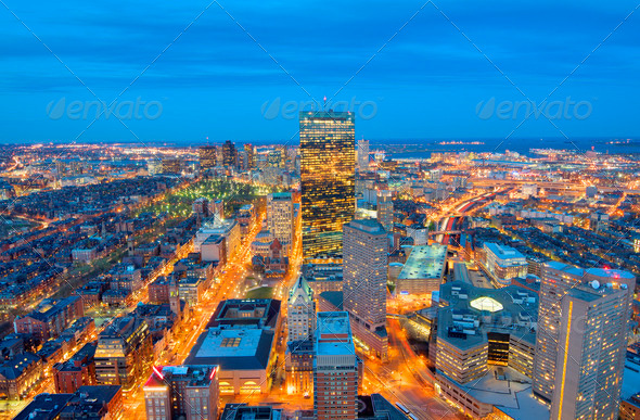 Boston Cityscape - Stock Photo - Images