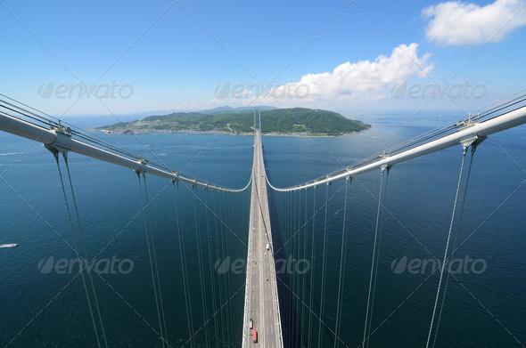 Akashi Kaikyo Bridge - Stock Photo - Images