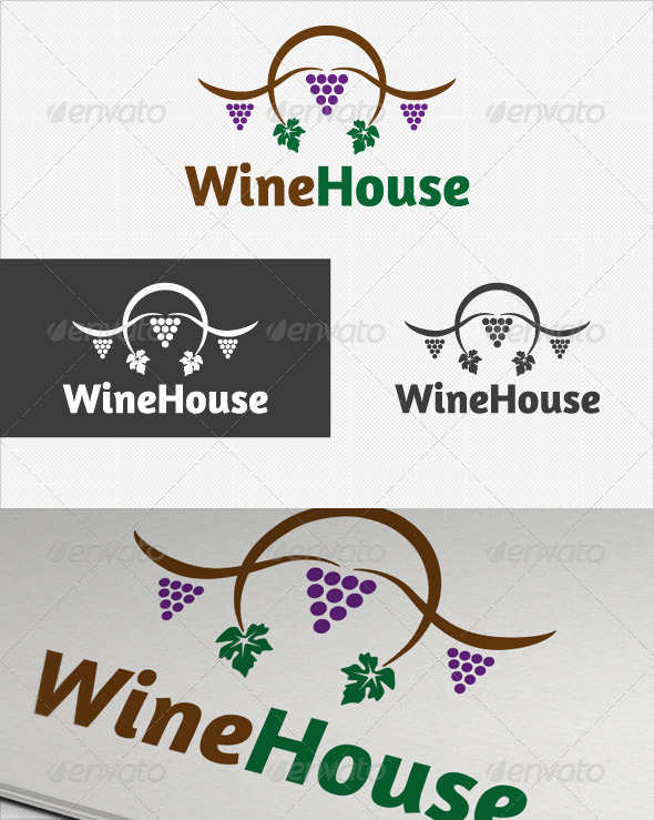 Wine House logo - Food Logo Templates