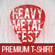 Rock Metal Festival Premium T-Shirt Template - GraphicRiver Item for Sale