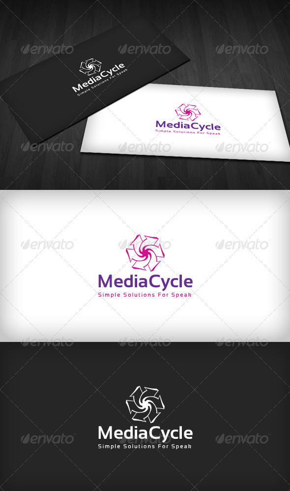 Media Cycle Logo - Vector Abstract