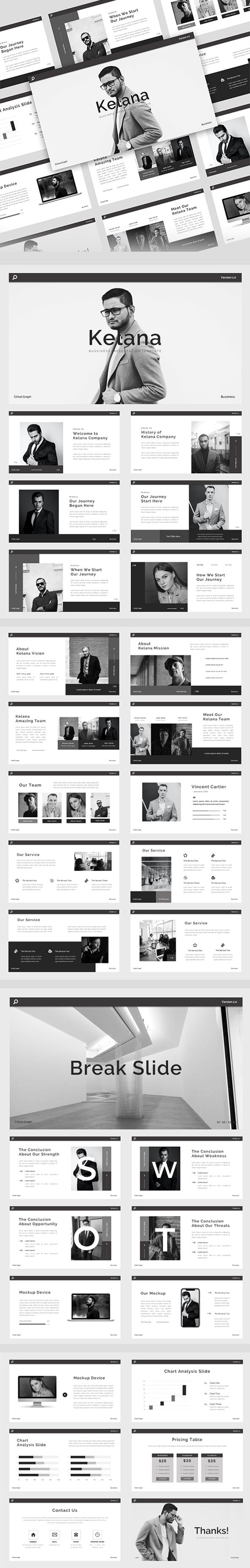 Kelana - Bussiness PowerPoint Presentation Template