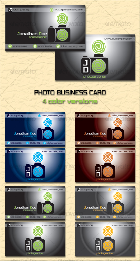 Photo Business Card - Industry Specific Business Cards