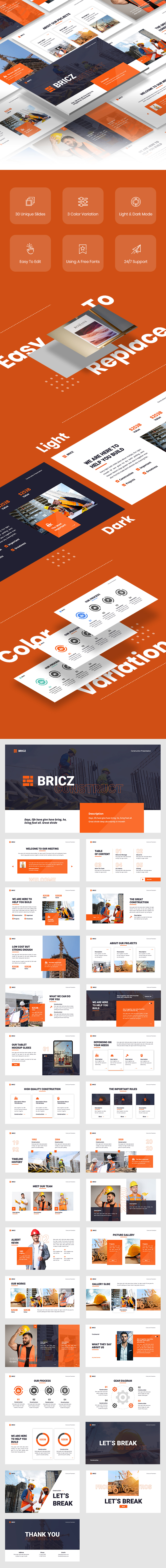 Bricz - Construction Google Slides Template