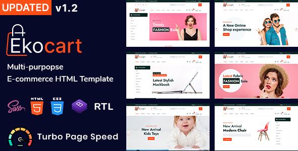 Ekocart – Multipurpose eCommerce HTML5 Template