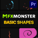 Basic Shapes Pack | Premiere Pro MOGRT - VideoHive Item for Sale
