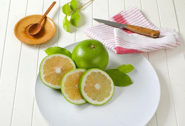 Sweetie fruit (green grapefruit, pomelit) - Stock Photo - Images