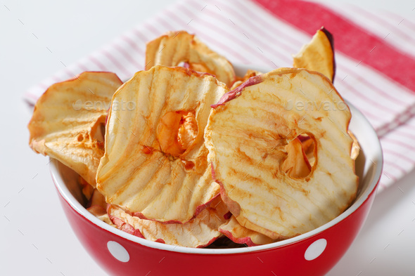 Dried apple chips - Stock Photo - Images