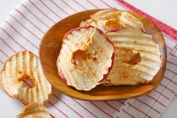 Dried apple slices - Stock Photo - Images