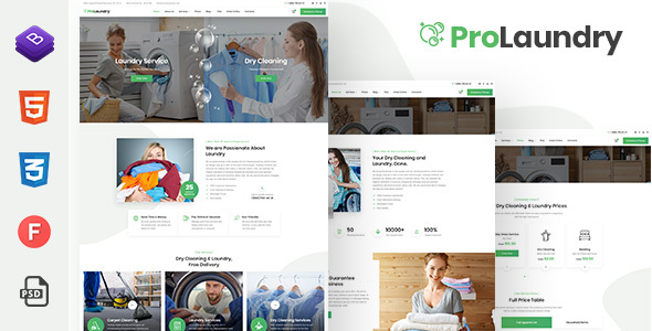 ProLaundry – Laundry HTML Template