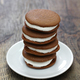 homemade chocolate whoopie pie with marshmallow filling - PhotoDune Item for Sale