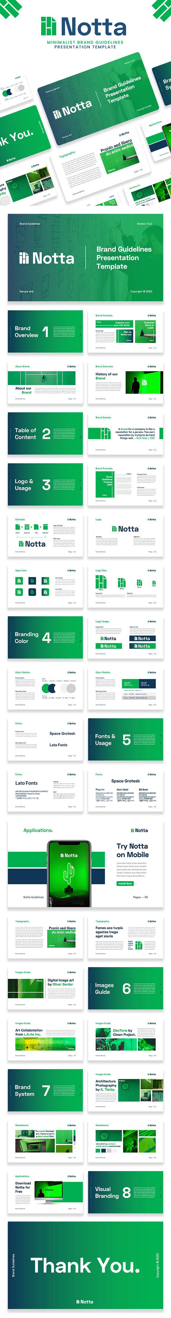 Notta – Brand Guidelines Google Slide Template