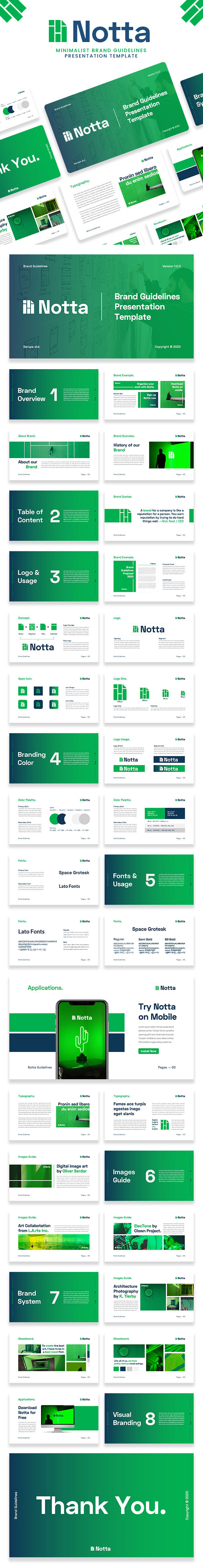 Notta – Brand Guidelines Powerpoint Template