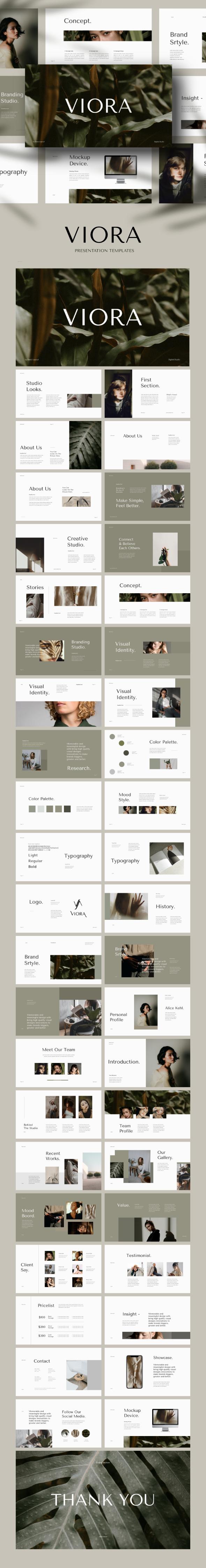 VIORA - Creative Studio Brand Template