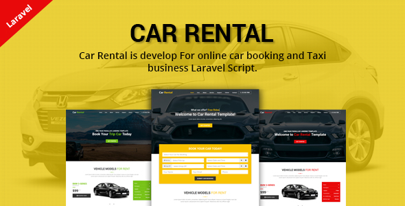 Car Rental - Cab Booking Laravel Script