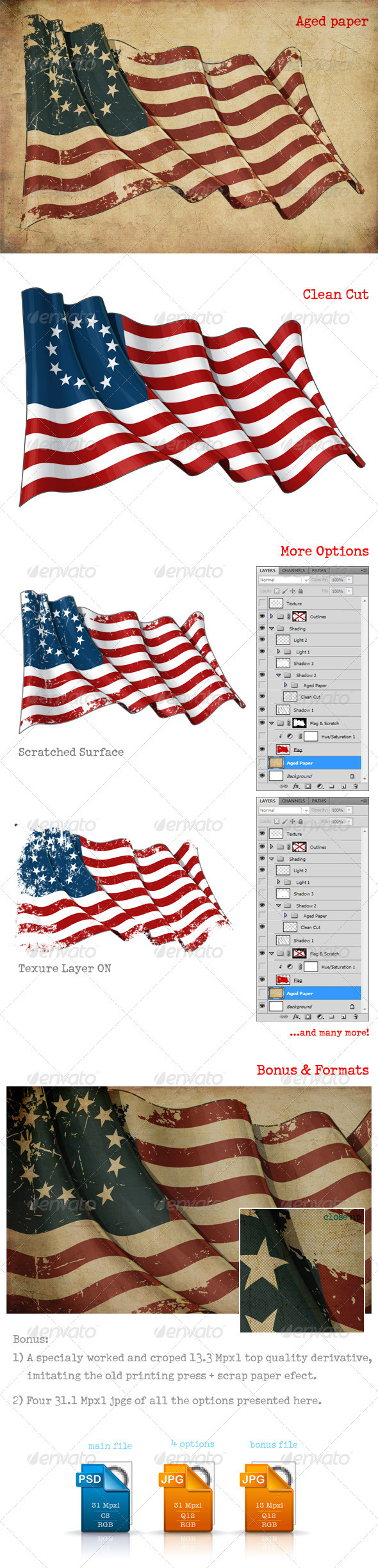 USA Betsy Ross Flag - Backgrounds Graphics