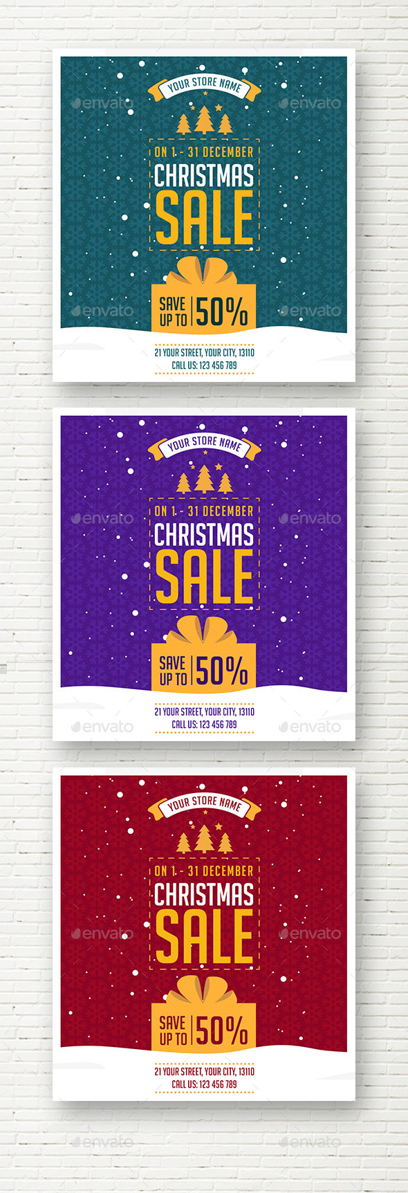 Christmas Sale Social Media Banner