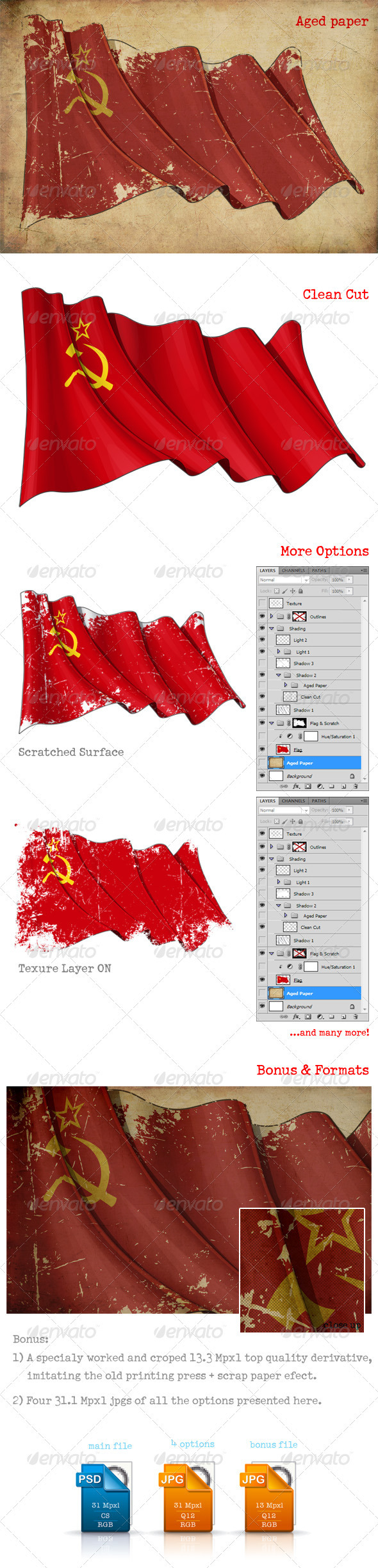 Soviet Union Flag - Urban Backgrounds