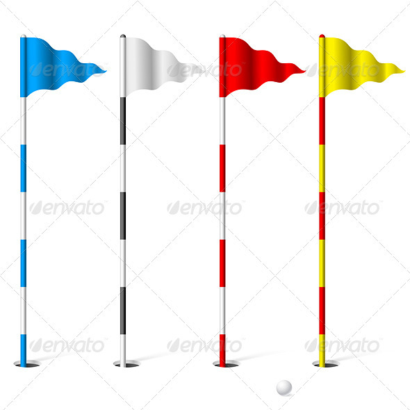 Golf flags - Sports/Activity Conceptual