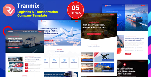Tranmix – Logistics & Transportation Company Template