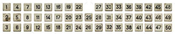 Old white numeric keypad - Stock Photo - Images