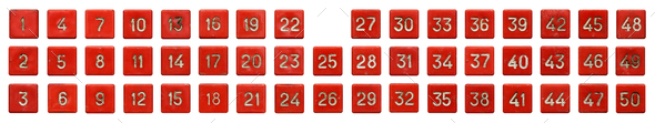 Old red numeric keypad - Stock Photo - Images